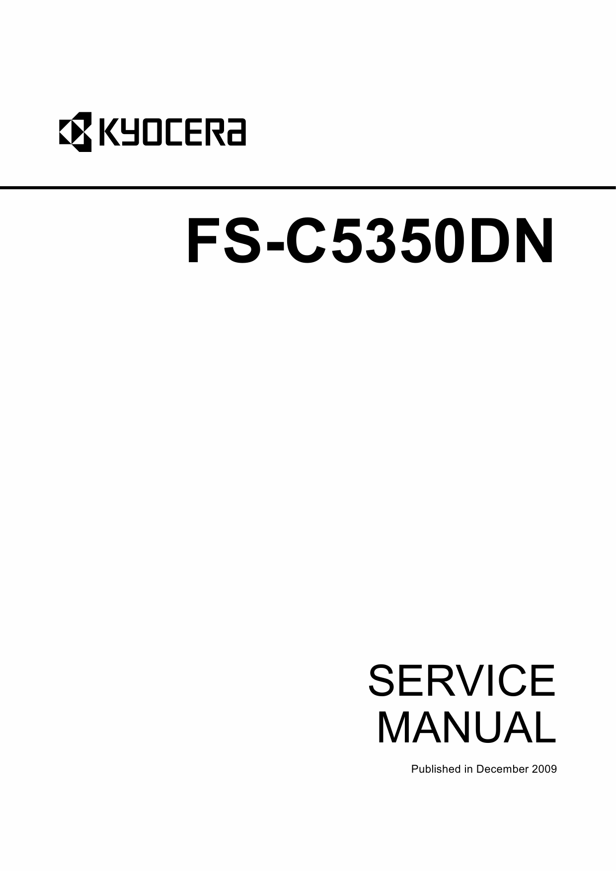 KYOCERA ColorLaserPrinter FS-C5350DN Parts and Service Manual